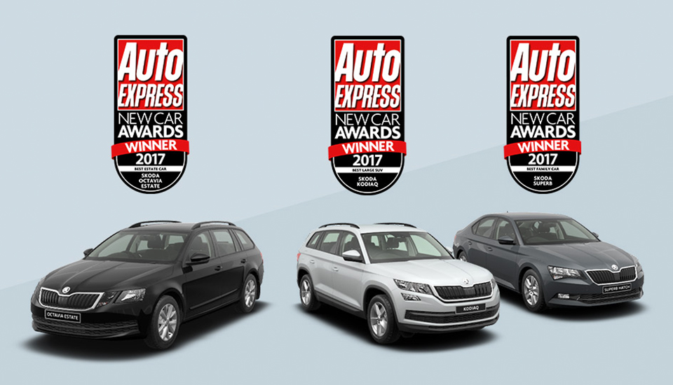 ŠKODA celebrate success at the 2017 What Car? Awards