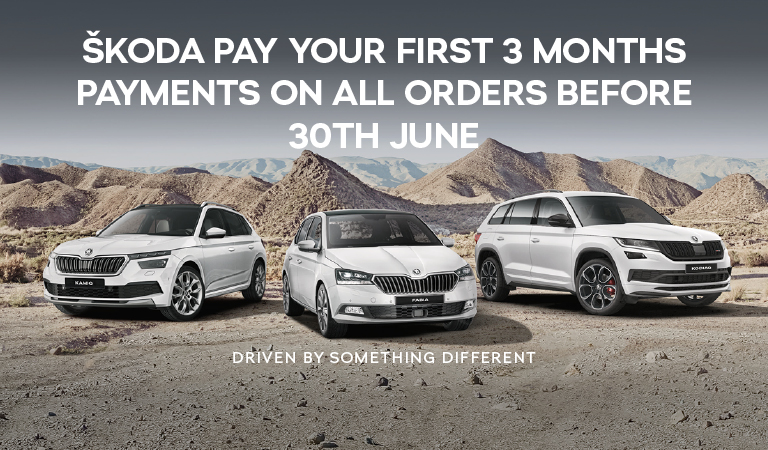 ŠKODA pay your first 3 months payments